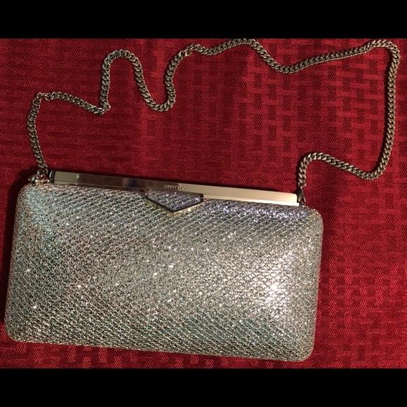 a41d1c89b6 Jimmy Choo Bags | Ellipse Glitter Fabric Clutch Bag | Poshmark